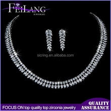 Gold supplier China gem copper zircon jewelry set with good price