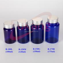 100ml 150ml 200ml Pharmaceutical Products Packaging Blue Plastic Medicine Bottles