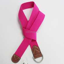 Polyester webbing canvas belt with D rings