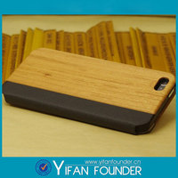 Newest design mobile phone wood case cover for iPhone 5,Sublimation flip leather case accessory
