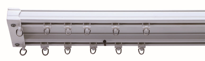 Shower Curtain Rod Double Track Gliders Plastic