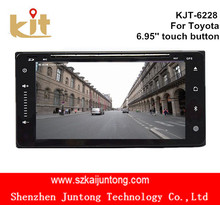 Touch button 6.95 inch gps navigation touch screen car dvd player with ipod 3g/wifi function