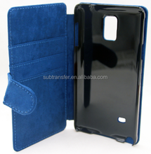 Hot Sublimation printable leather flip case for SamSung Note4