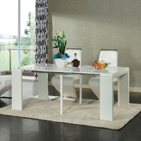 AY-6004T high gloss modern folding dining table designs