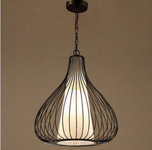 Simple Industrial Metal Cage Rustic Pendant Light