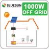 China factory bluesun brand solar power system diagram 1000w off-grid solar