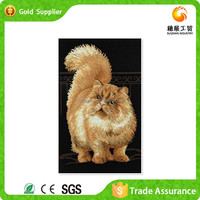 Yiwu Factory Wholesale Price Easy Canvas Diy Diamond Painting Cat