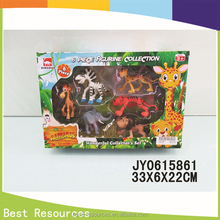 2015 hot selling cute plastic cartoon zoo animal toys perfect pet toys