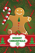 made in china 28x40 2016 ginger bread man sublimated custom made garden flags decorative flags