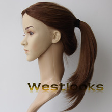 100% Human hair Blonde Kosher Ponytail Wig With Certification