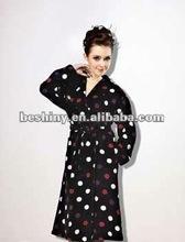 shawl style coral fleece fabric bathrobe 77979