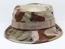 fashion 100% cotton cheap camouflage outdoor bucket cap and hat with woven label