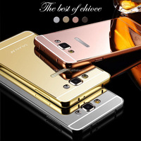 New Aluminum burmer mirror mobile phone case cover for samsung galaxy s5 s6 s6 edge mirror case