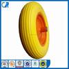 High quality flat free tire foam filled wheelbarrow 14x350-8 pu wheel