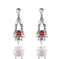 Europe and America brand fashion temperament high-grade earrings, water droplets alloy diamond earrings