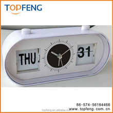 Flip-Date Retro Alarm Clock With Calendar/date table clock/table alarm clock