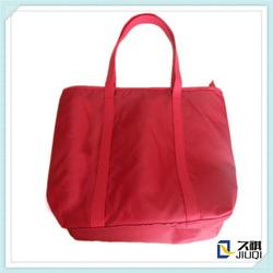 Custom polyester travel/ beach shopping organizer tote bag lady handbag