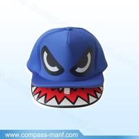 Shark Mouth Teeth Double Brim Snapback Cap