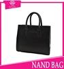 2015 Hot sale black trendy beach bags coffee bag wholesale branded college bag pure leather lady's handbags