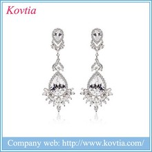 Wedding dresses istanbul Chandelier Earrings white gold plated earrings white stone stud earrings