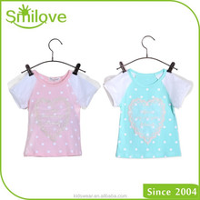 2015 China supplier clothing kids quick dry breathable stock sale children full cotton t shirt