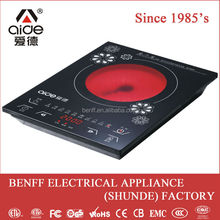 With 4 numbers digital display screen electric range cookers touch screen controller ceramic glass