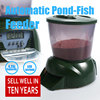 Automatic fish feeder use for pond design for fish farms