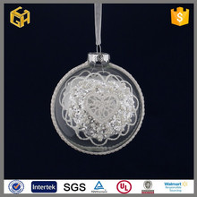 100 wholesale hand blown clear couple glass ball christmas decorative