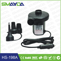 2015 factory supply black color ABS material 12V DC mini electric air pump