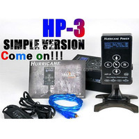 Hurricane Power HP-3 Black Dual Digital LCD Tattoo Power Supply, New Version Touch Screen Hurricane Tattoo Power Supply