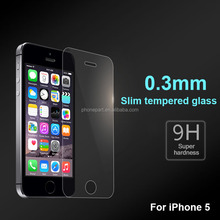 Ultra Slim 0.20/0.26mm Premium America Corning tempered glass screen protector for iPhone 5 5c 5s Welcome OEM