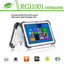NEW 10 Inch Rugged Tablet with Intel Quad core 3G GPS 2G Ram 32G Rom NFC RFID Industrial Rugged Tablet with 2D Barcode Scanner
