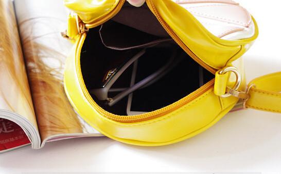 бренд лимонная цепь крест мешки желтый оранжевый плод Пу кожа сумка сумка