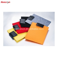 51006#wholesale colorful felt inner laptop bag, felt cover with velcro for ipad