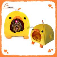 Warm soft China yellow animal shaped soft fabric pet house