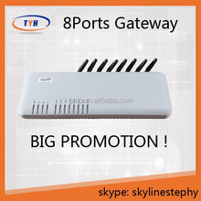 Fixed Wireless Terminal VoIP Gateway gsm GoIP 8 port gsm gateway internet relay control call bank