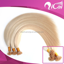 2015 Qicai hair Top quality wholesale 100% Virign Chinese Hair Extension Nail/U Tip Silky Straight No Shedding And Tangle