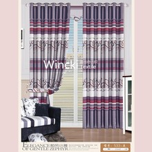 burnout modern design blackout window curtain with printing