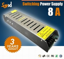 2015 hot sales slim shape led switching power supply DC12v 8A 100W