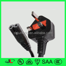 UK power cable underground electric flat cable, 1.5mm electrical cable and power plug
