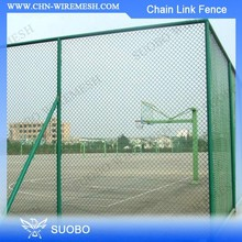 Plastic Lattice Fence Steel Mesh Barbed Wire 50*50Mm Vinyl Coated Chain Link Fence