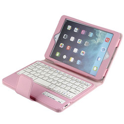 PU Leather Stand Case With Bluetooth Keyboard For iPad Mini