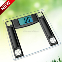 "Electric weight scale with 4.3 inch Extra Large Cool Blue Backlight Display and ""Smart Step-On"" Technology"