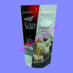 food safe color printing stand up fried chicken bag
