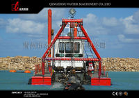 Professional factory direct diesel low price sand cutter suction dredger, sand dredger for sale