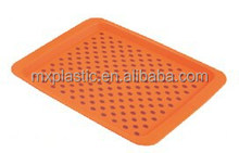 China wholesale anti-slip plastic rectangle serving tray