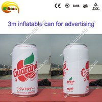 hot-seeling giant advertising inflatable must can, inflatable ade can