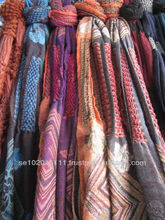 Trendy Indian shawls with cluster and square pattern design