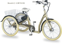 GW7019E Pedal and Electric Driving Type Tricycle