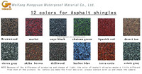 Colorful fiberglass asphalt roof shingle with 5 shapes for slope roofs
